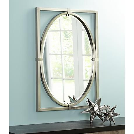 Uttermost Akita Brushed Nickel 24 X 34 Wall Mirror 8r811