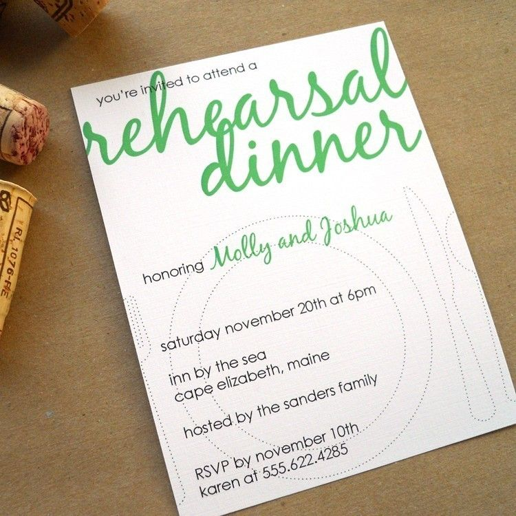 Rehearsal Dinner Invites Set Of 40. $72.00, Via Etsy