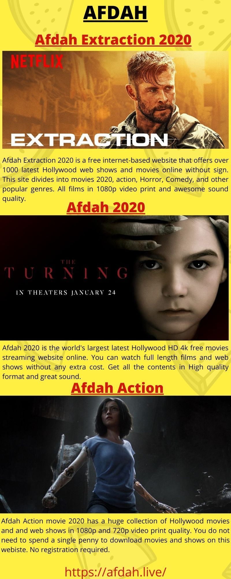 Afdah Extraction 2020 has a huge collection of Hollywood