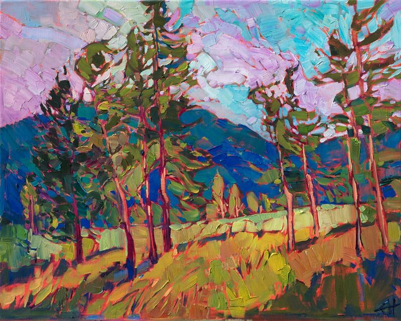 Oregon Landscape Oil Painting By Modern Impressionist Erin Hanson Painting Oil Painting Abstract Oil Painting Flowers