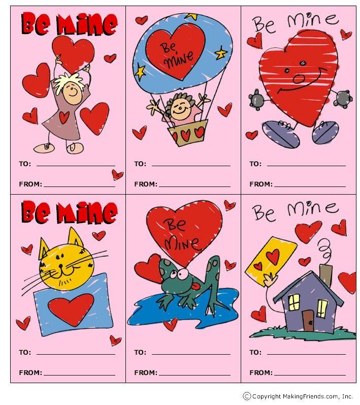 valentines kids cards