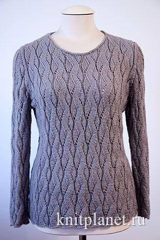 женский джемпер спицами интересные приемы вязания модели спицами