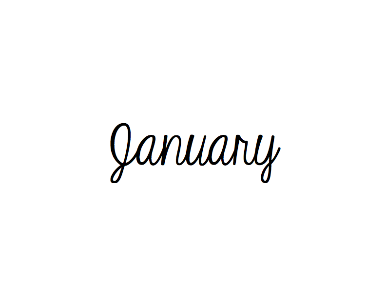 January January Quotes Calligraphy Words Months In A Year When you start modifying the shapes of the letters, you are now illustrating. pinterest