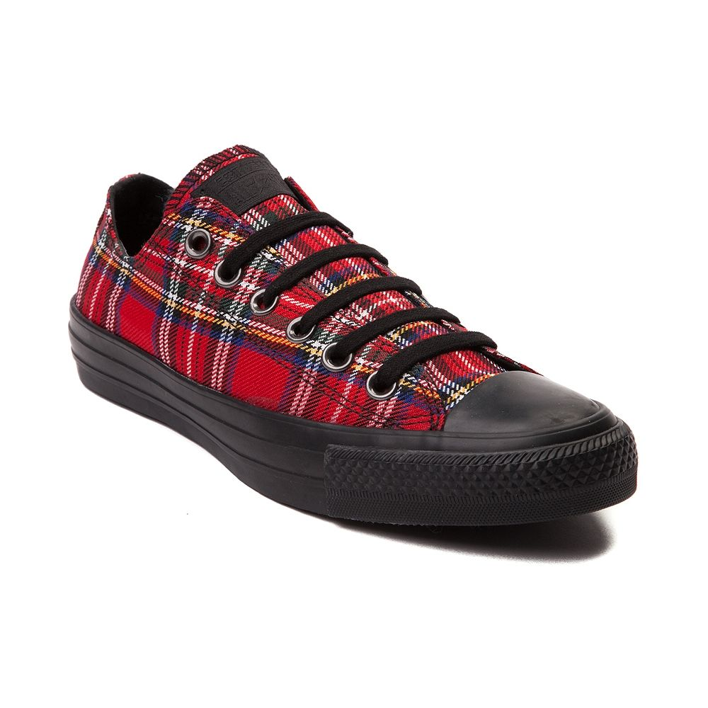 Converse Chuck Taylor All Star Lo Tartan Sneaker / Red Plaid Sneakers