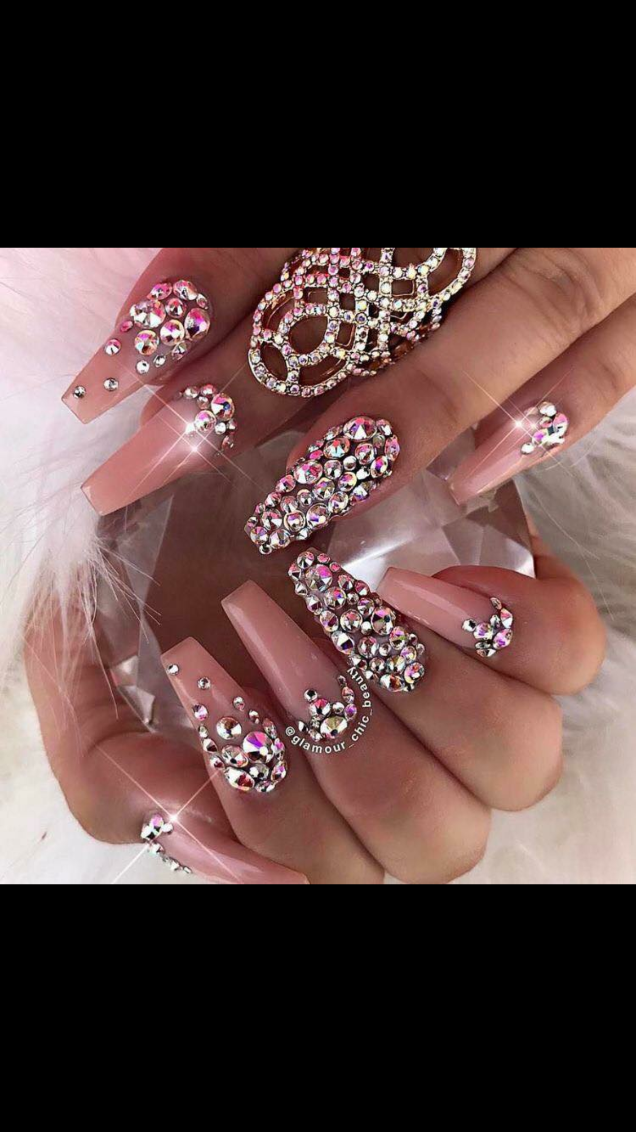 pin shan nails rhinestone