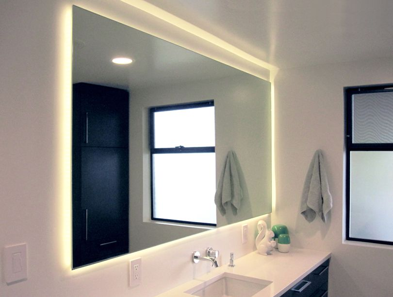 Pin By Graham Moore On Lighting White Bathroom Mirror Bathroom Mirror Best Bathroom Vanities
