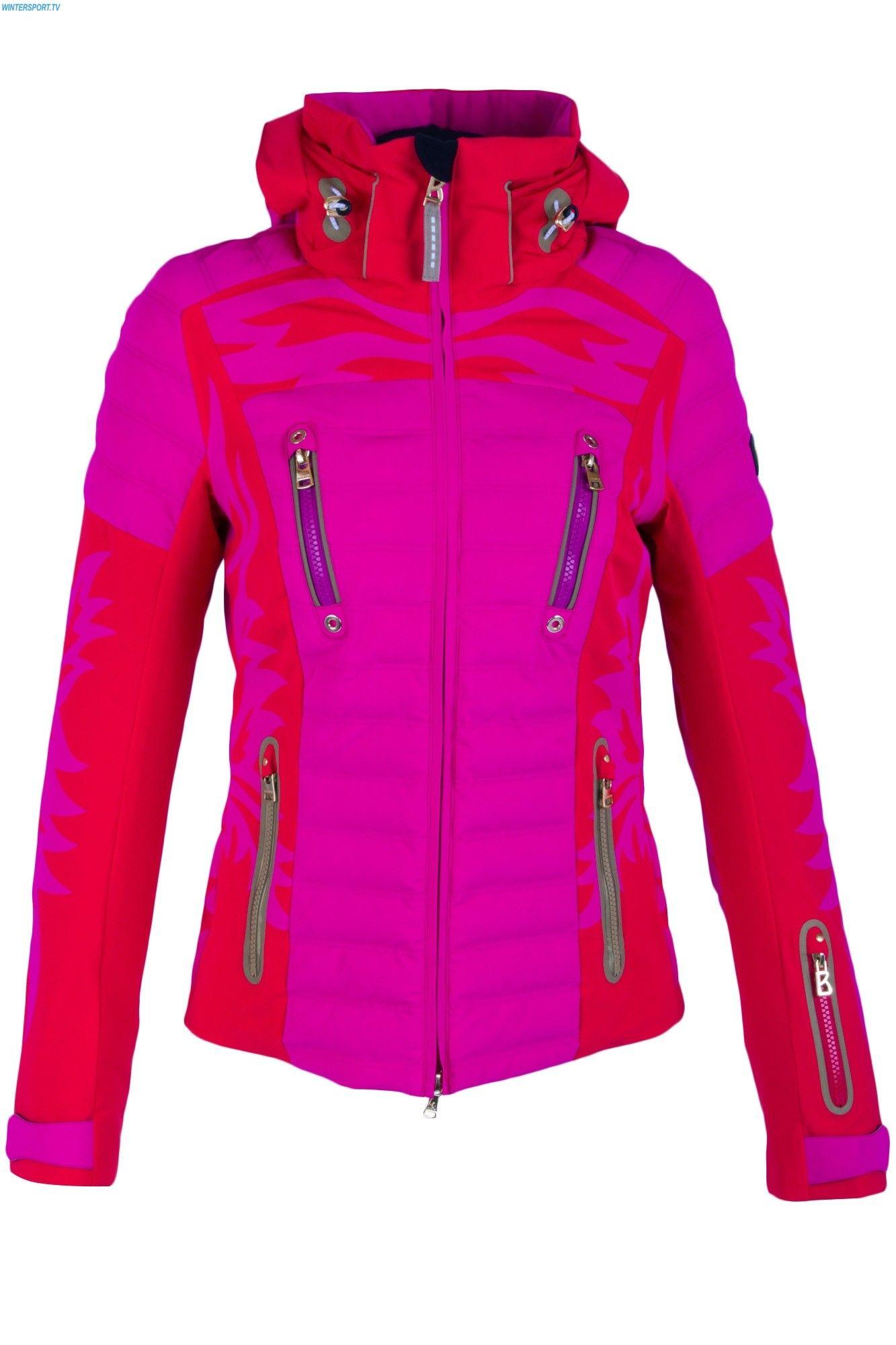 1f481ec7b5 Bogner Women Paula Ski Jacket - Hot Red Dark Orchid