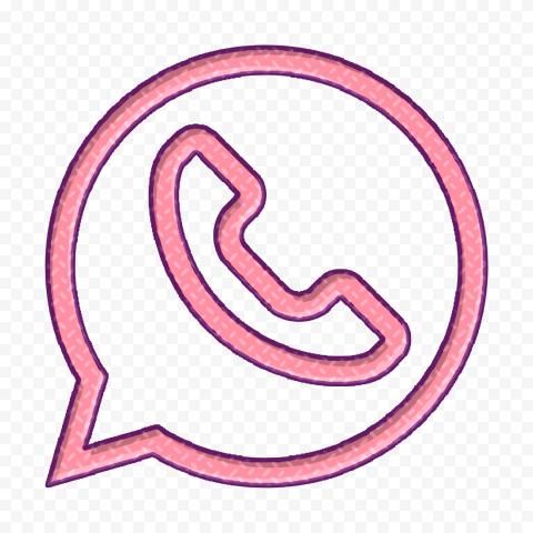 Hd Pink Clipart Outline Whatsapp Wa Logo Icon Png Media Icon Social Media Icons Logo Icons
