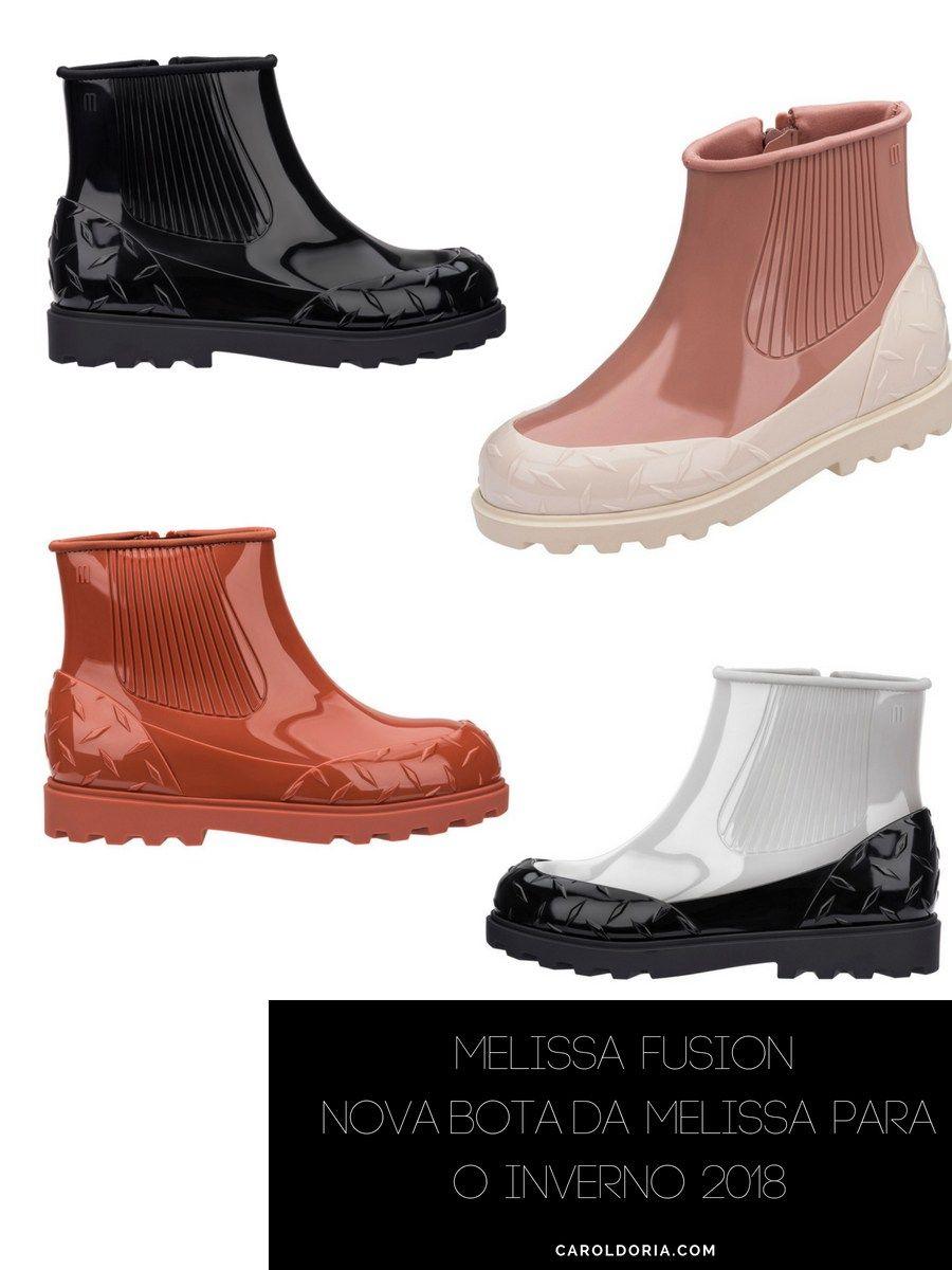 ee97e4a0f Melissa Fusion, a nova bota da Melissa para o Inverno 2018 - Carol Doria,  sapatos femininos, calçados femininos, lançamento, novidade, shoes, boots