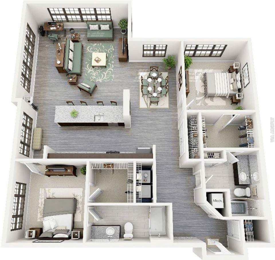 Luxury Apartment Bedroom: Pin By Ka'Zaiah On House Plans