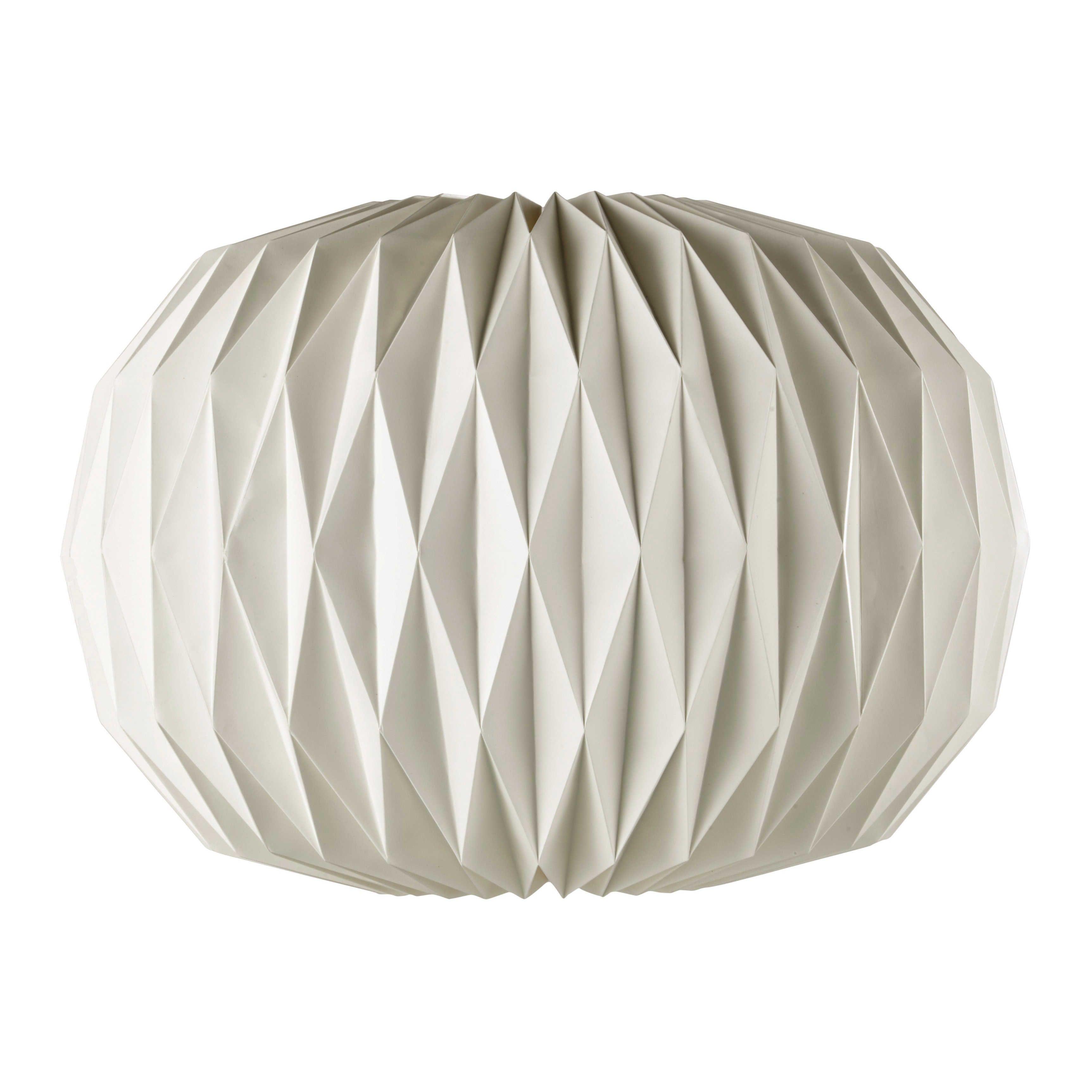 Lampada a sospensione non elettrificata bianca in carta D 70 cm ZEN