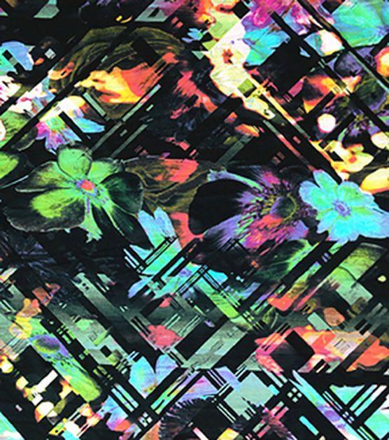 Nicole Miller Rayon Spandex Fabric-Diamond Abstract