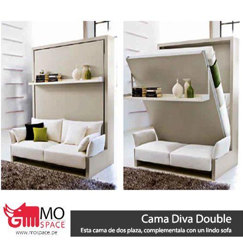 Diva Double, cama de dos plazas, usa colchón de resortes standar ...