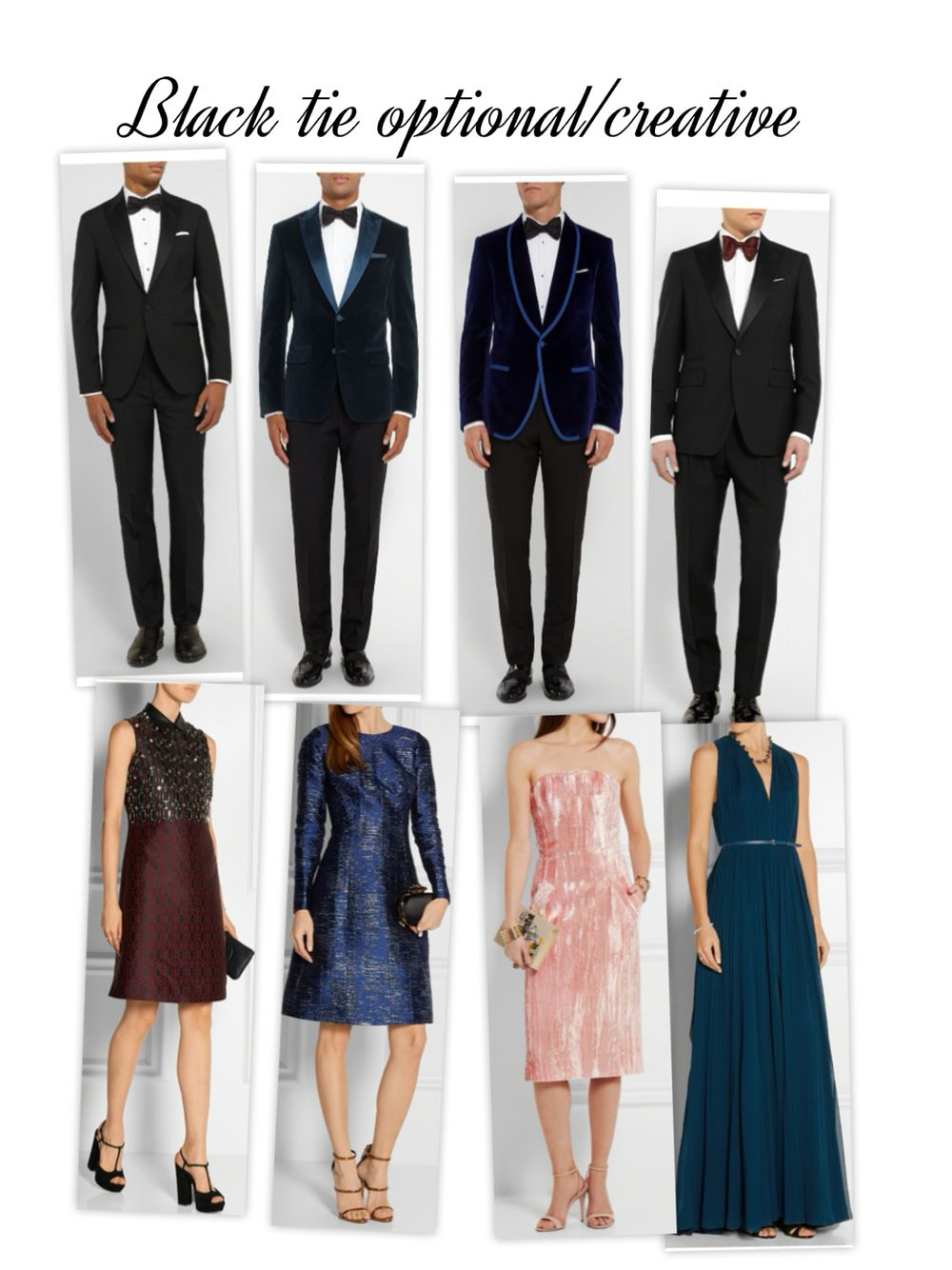 88db35770e0 Black tie optional creative dress code Black Tie Optional Wedding