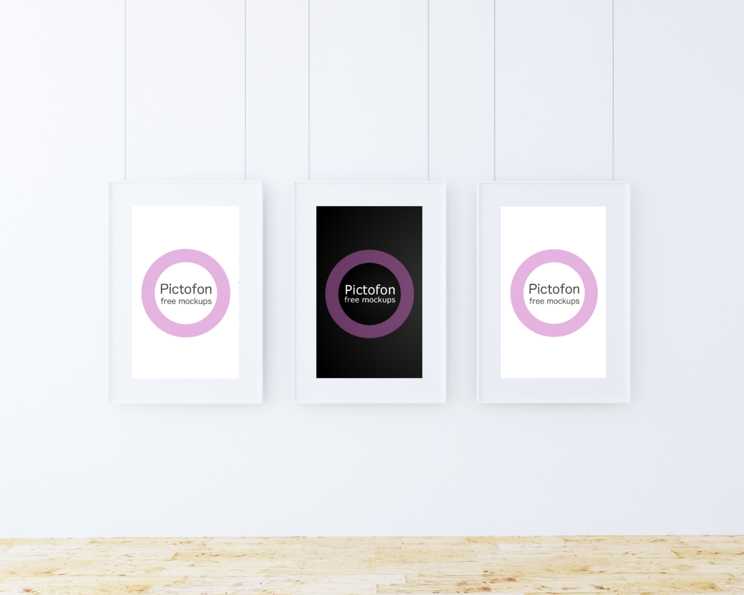 Free wallframe mockup with instant preview of your