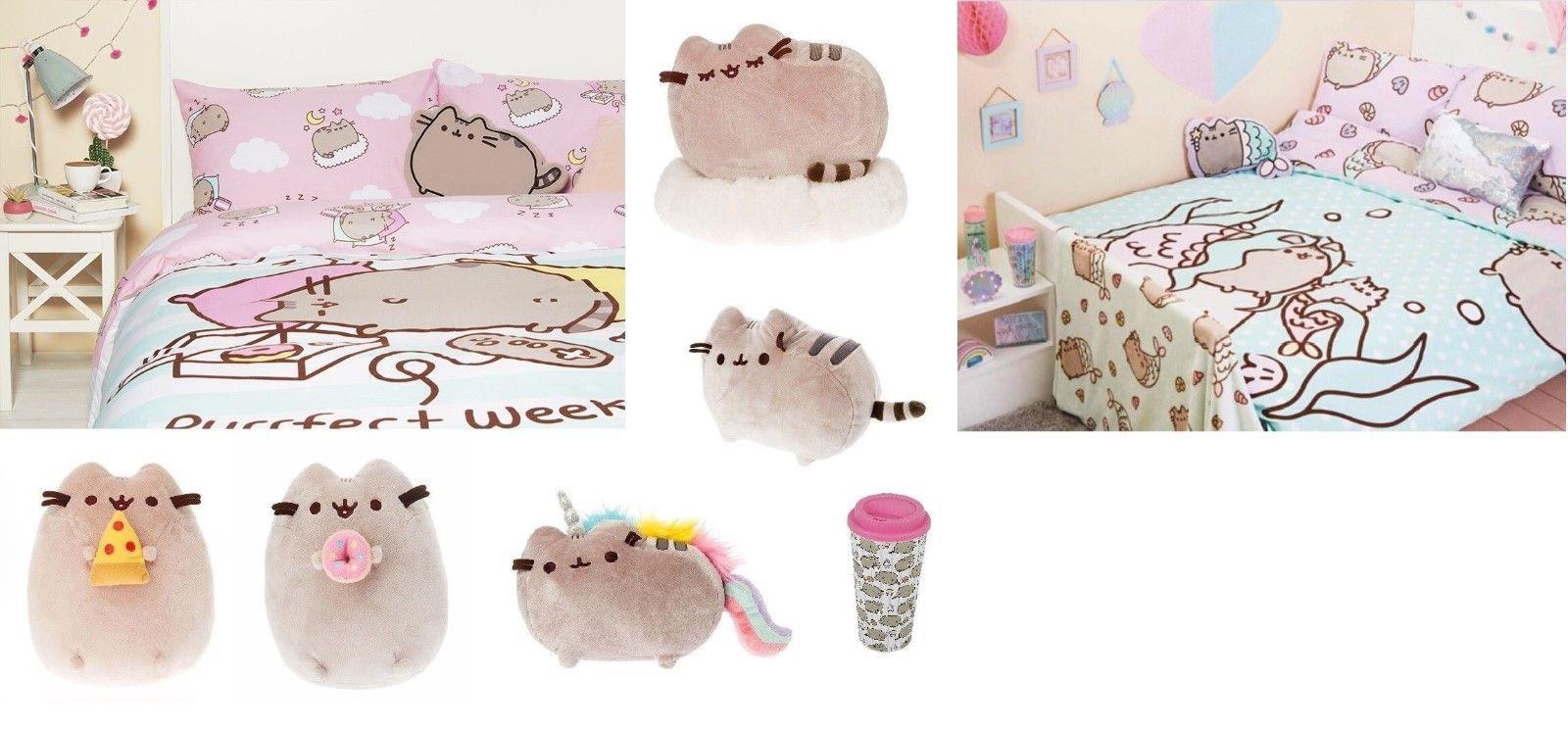 Disney Pusheen The Cat Single Double Duvet Cover Bed Set
