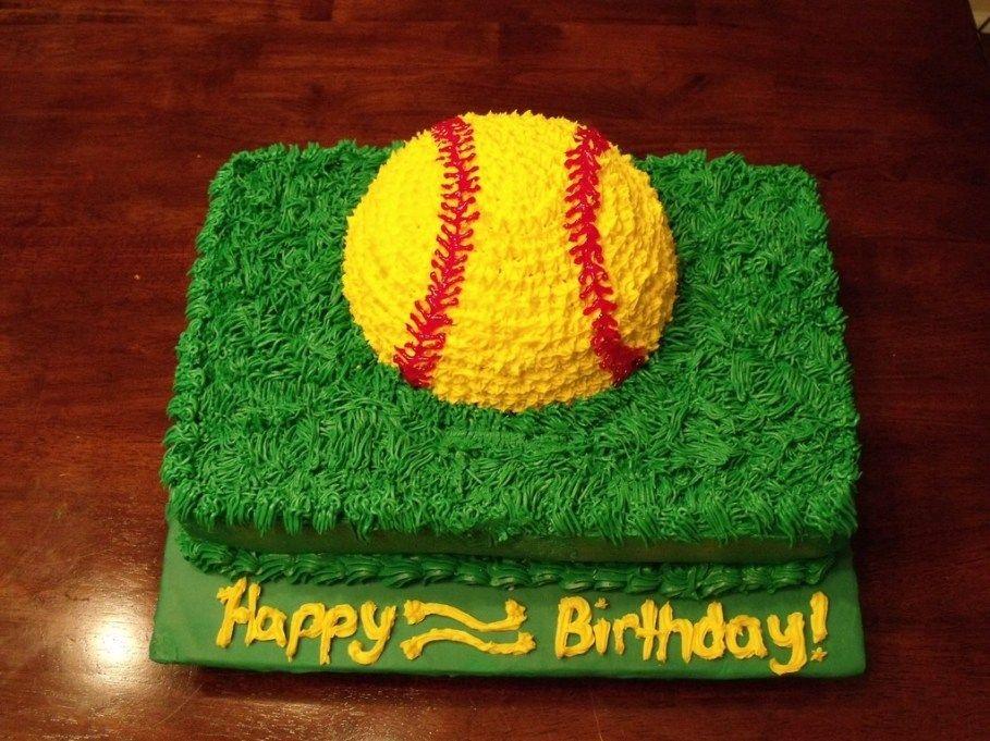 Astonishing 32 Exclusive Image Of Softball Birthday Cakes Softball Birthday Personalised Birthday Cards Paralily Jamesorg