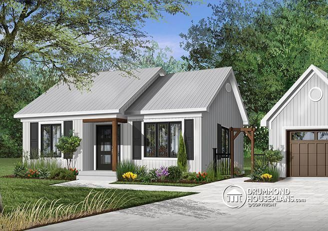 Front base model large bedrooms small  simple transitional style house plan very low construction cost open space st laurent also rh pinterest