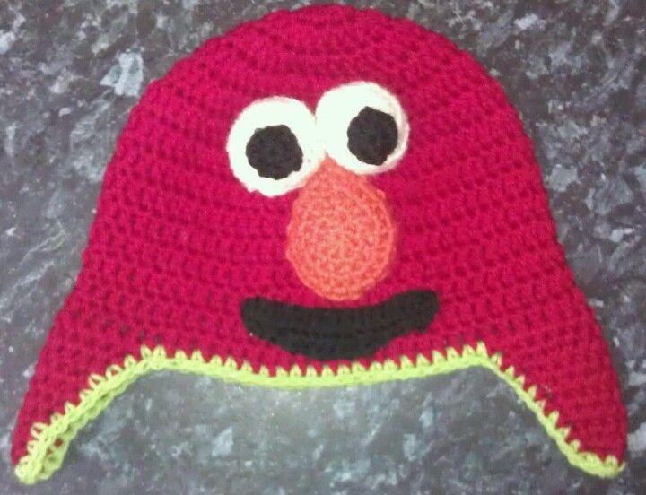 Elmo beanie/ Crochet