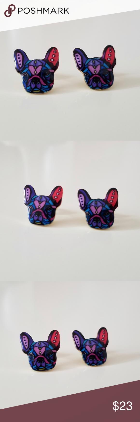 NEW Cute Stud French Bulldog Dog Earrings Dog earrings