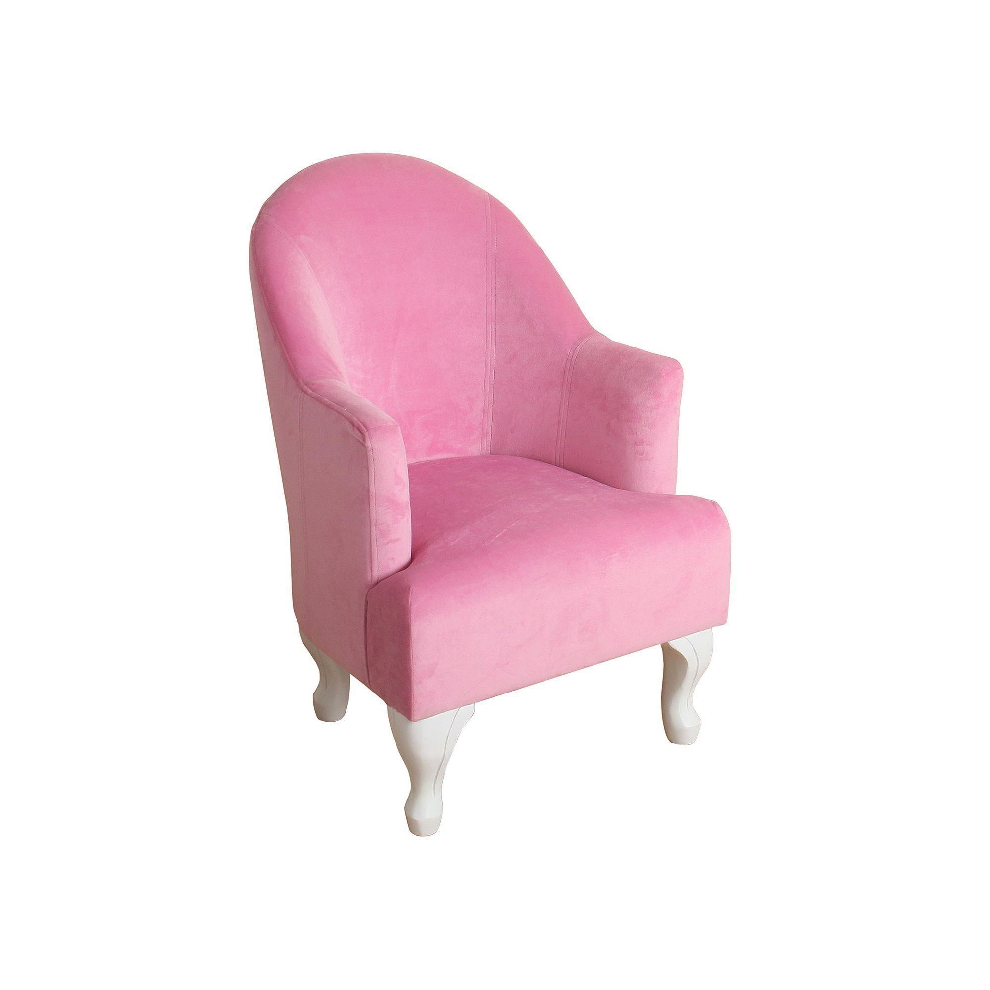 HomePop Kids Velvet Accent Chair Pink