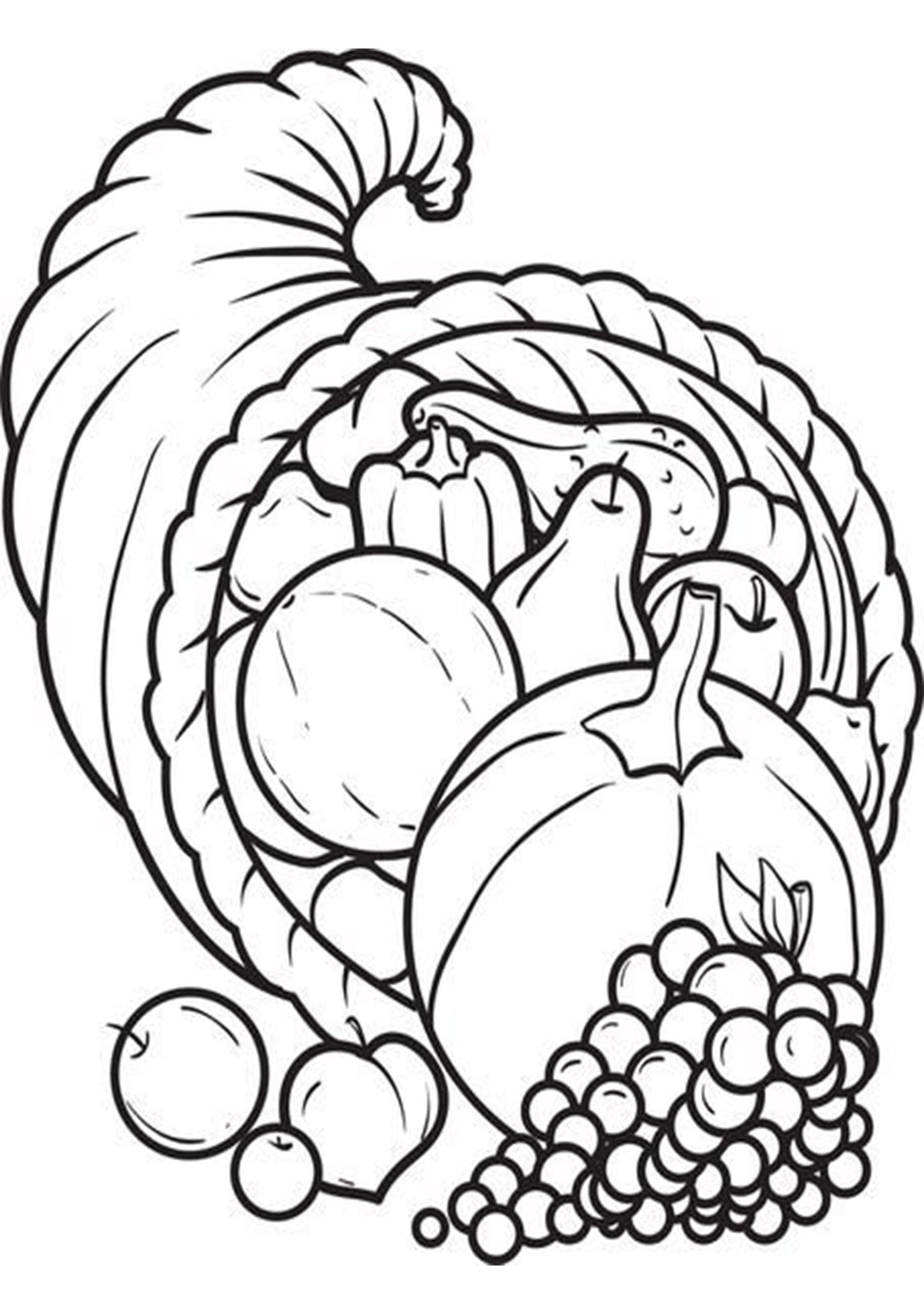 Free & Easy To Print Food Coloring Pages in 2020 | Turkey ...
