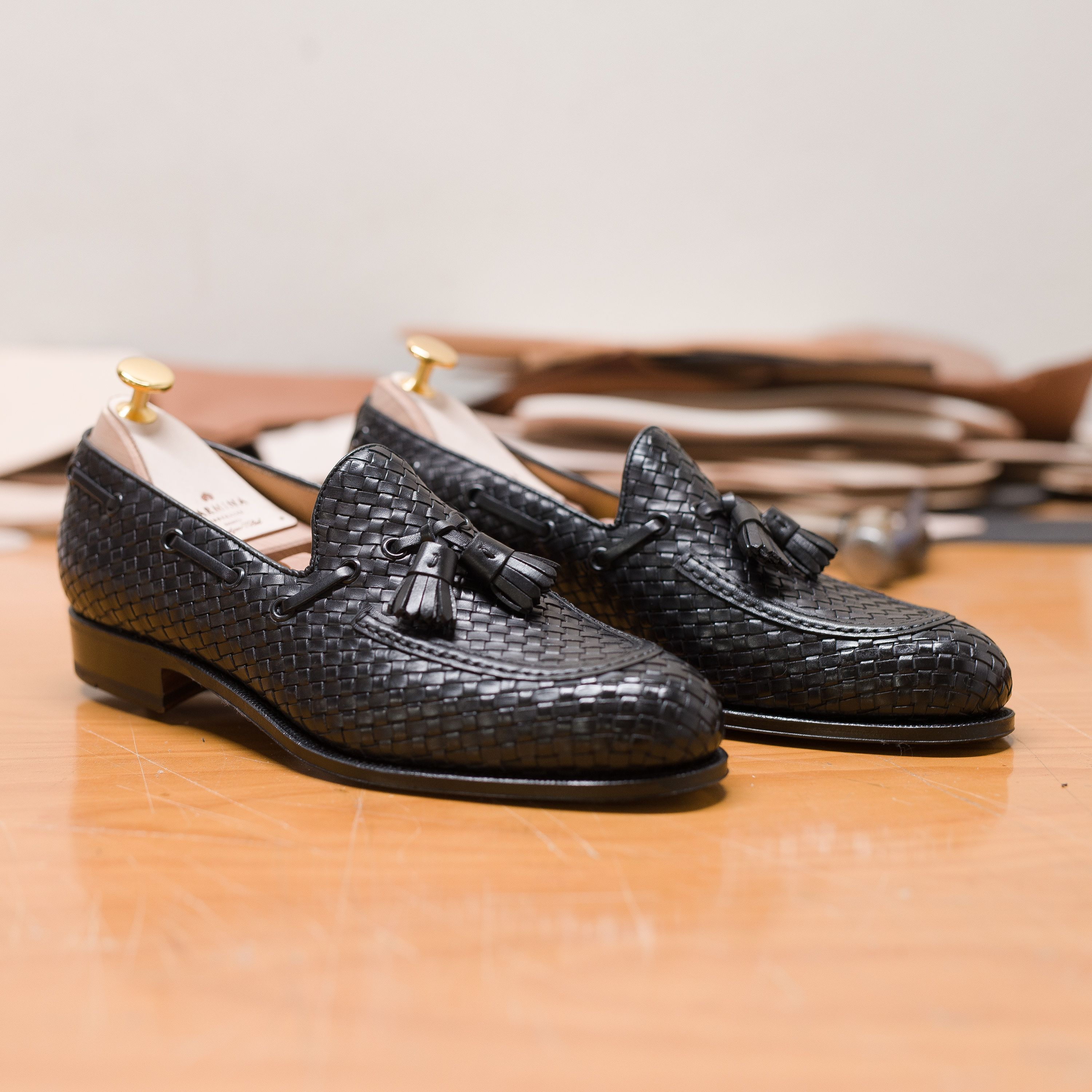 3f6aac7b860 BRAIDED TASSEL LOAFERS 80299 FOREST IN BLACK