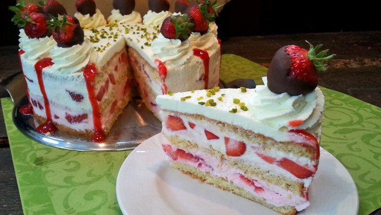 Erdbeer sahne torte aldi