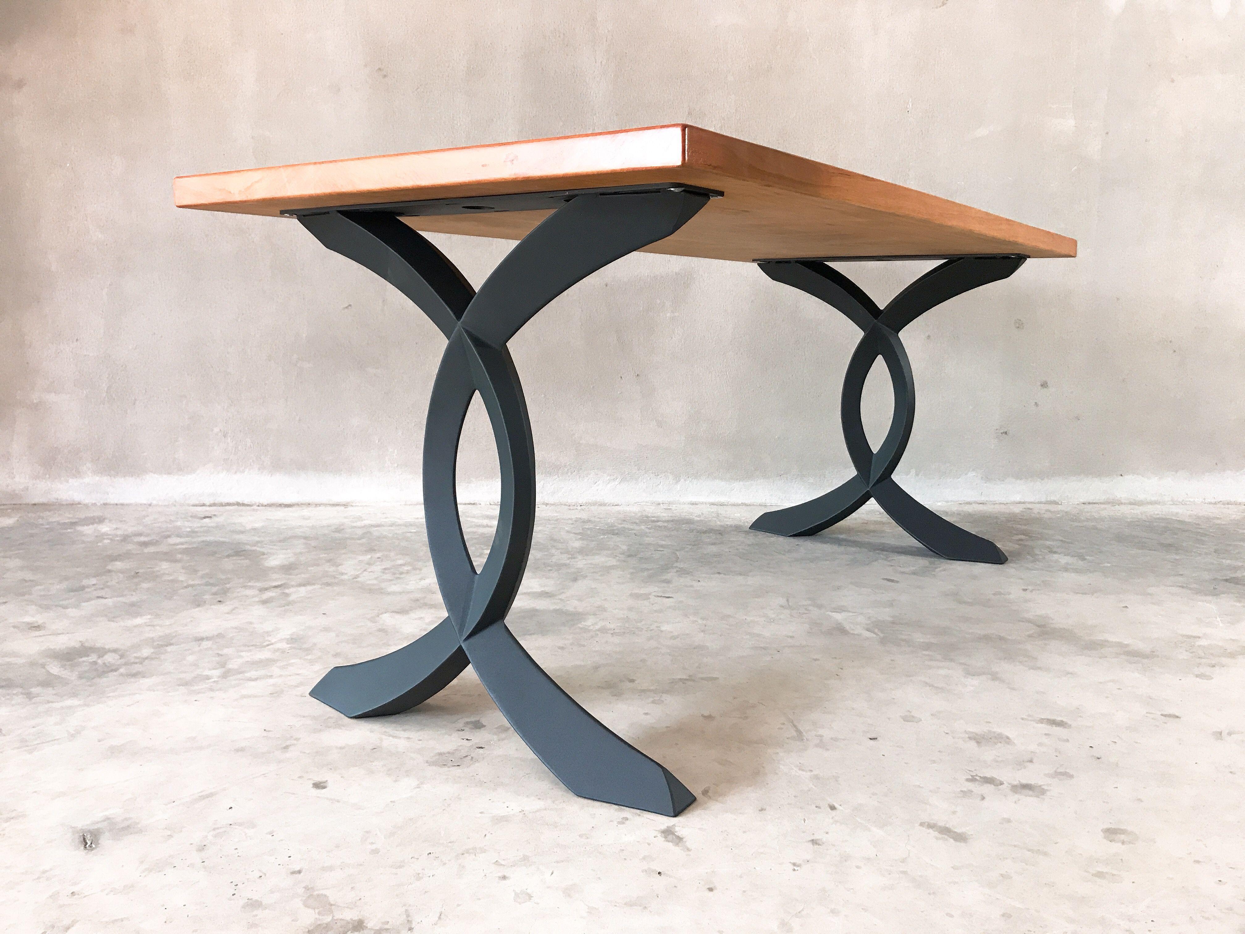 Strange Table Metal Legs Base For Dinning Table Live Edge Table Beutiful Home Inspiration Aditmahrainfo