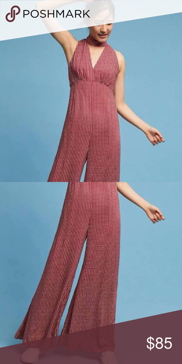 2756411a67d6 Anthropologie Maeve Farida Mock Neck Jumpsuit Anthro Jumpsuit Worn Once  Anthropologie Pants Jumpsuits & Rompers
