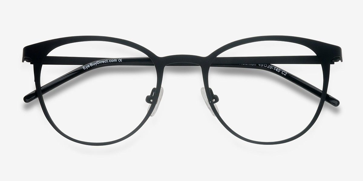 c57a8c933d9f1 Reunion Matte Black Metal Eyeglasses from EyeBuyDirect. A fashionable frame  with great quality and an