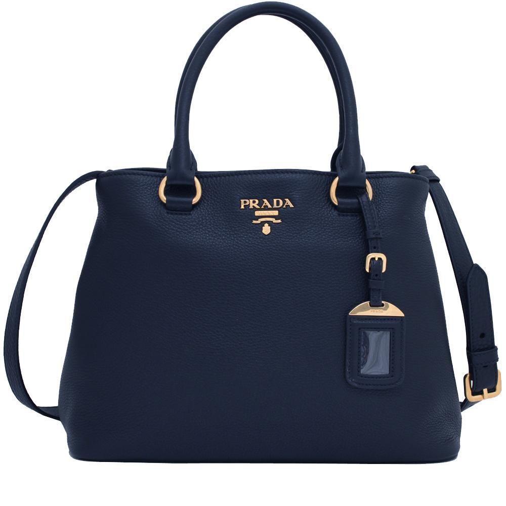 8c05b4803c2ce Prada Women s Navy Blue Vitello Phenix Leather Handbag 1BA058  Prada  Gucci   DesignerHandbags  QueenBeeofBeverlyHills  BeverlyHills  SaintLaurent ...