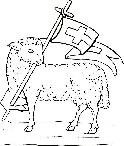 Lamb Of God Colouring Pages Religious Pinterest Lambs Color