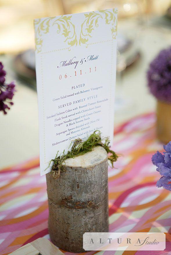 Custom Wedding Menu For A Family Style Reception Use Cholla Or