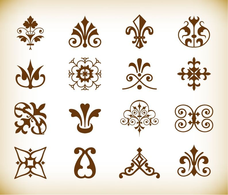 Name Vintage Deco Design Elements Vector Set Homepage Graphics License Creative Commons Attribution File Type EPS This Image Is A Scalable