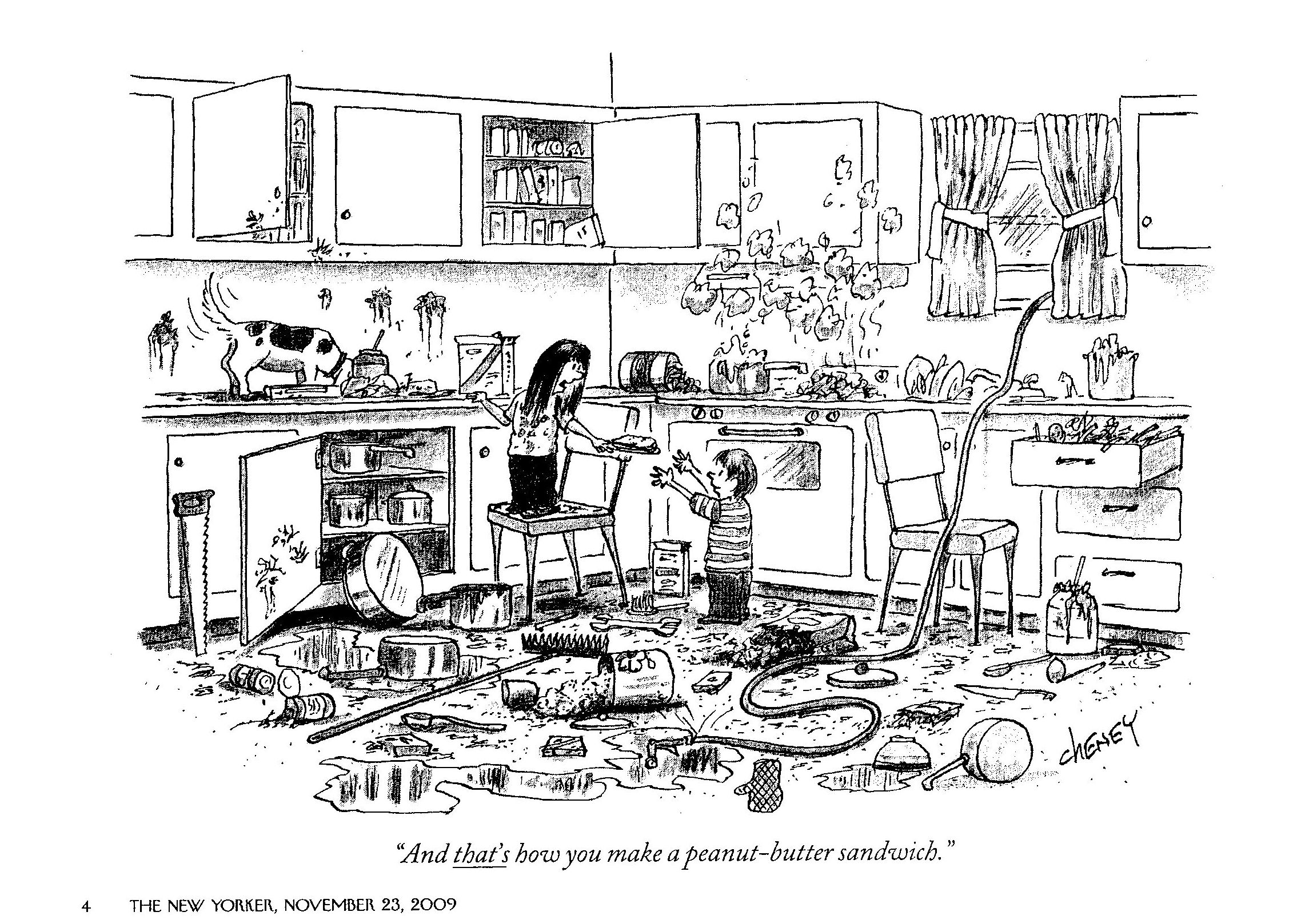 happy thanksgiving cartoon kitchens and safety
