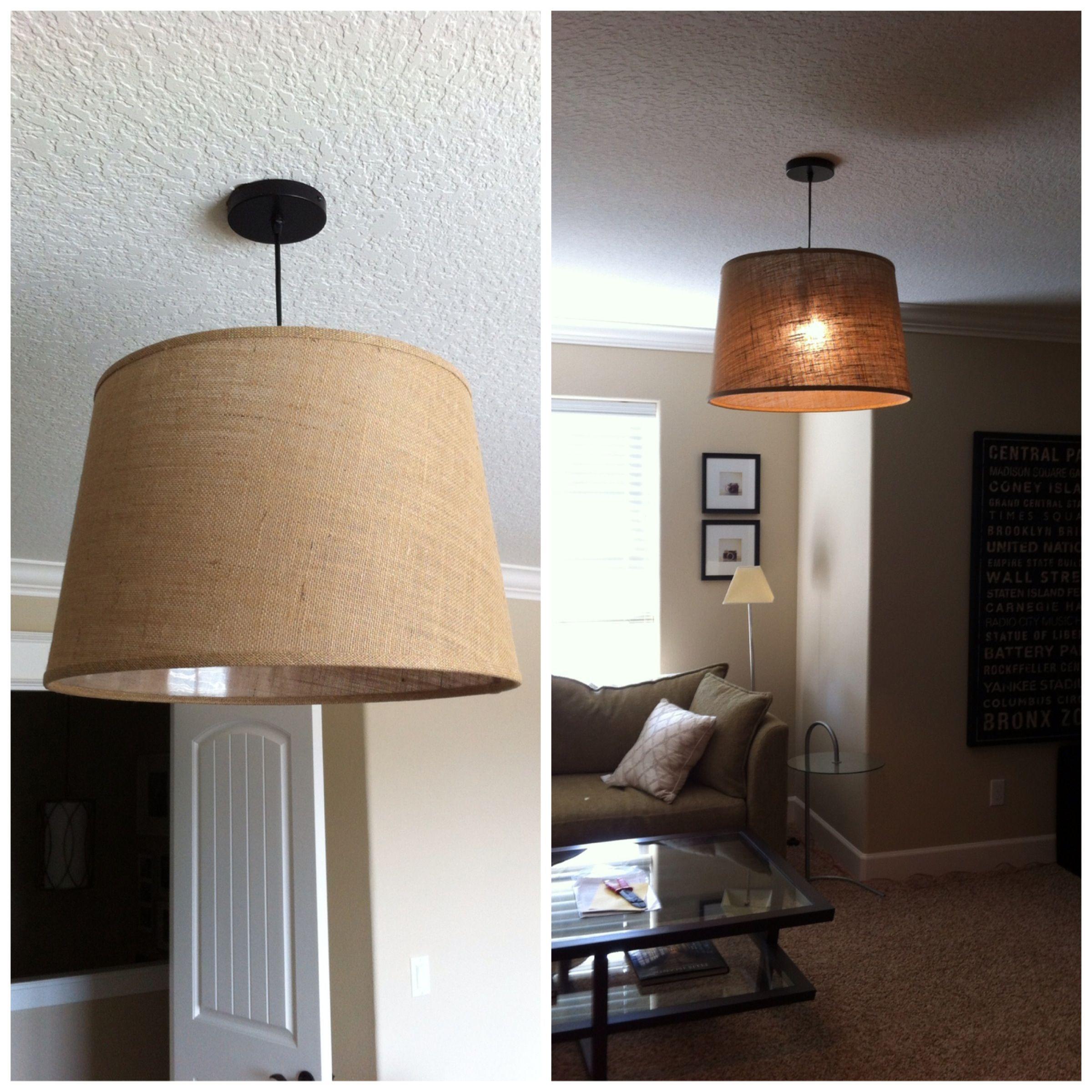 Cheapest Diy Pendant Cost Plus Black Electrical Ceiling Hardware Kit 12 99 Natural Burlap Floor Lamp Shad Diy Floor Lamp Lamps Living Room Diy Pendant Light