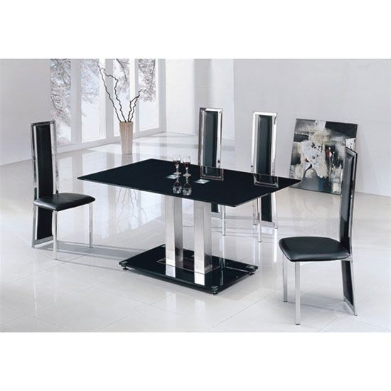 Giomani Designs Jet Black Dining Table And Citalia Chairs