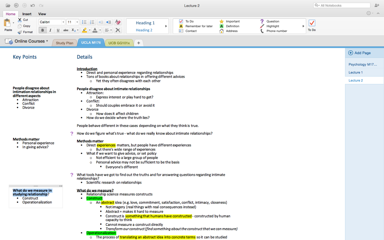How To Use Cornell Note Taking Method On Onenote