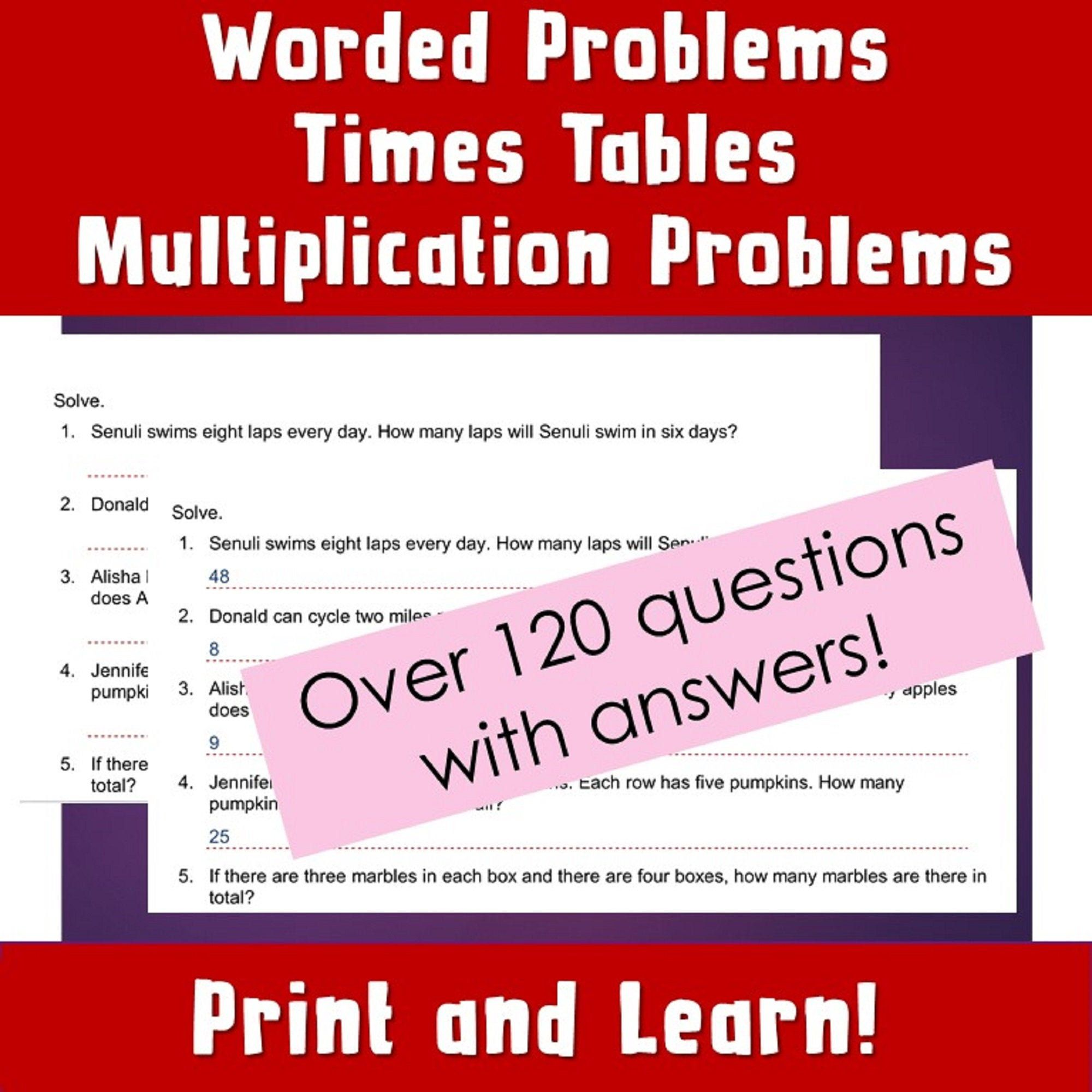 Multiplication Worksheets Problems Year 4 Reasoning Year 4