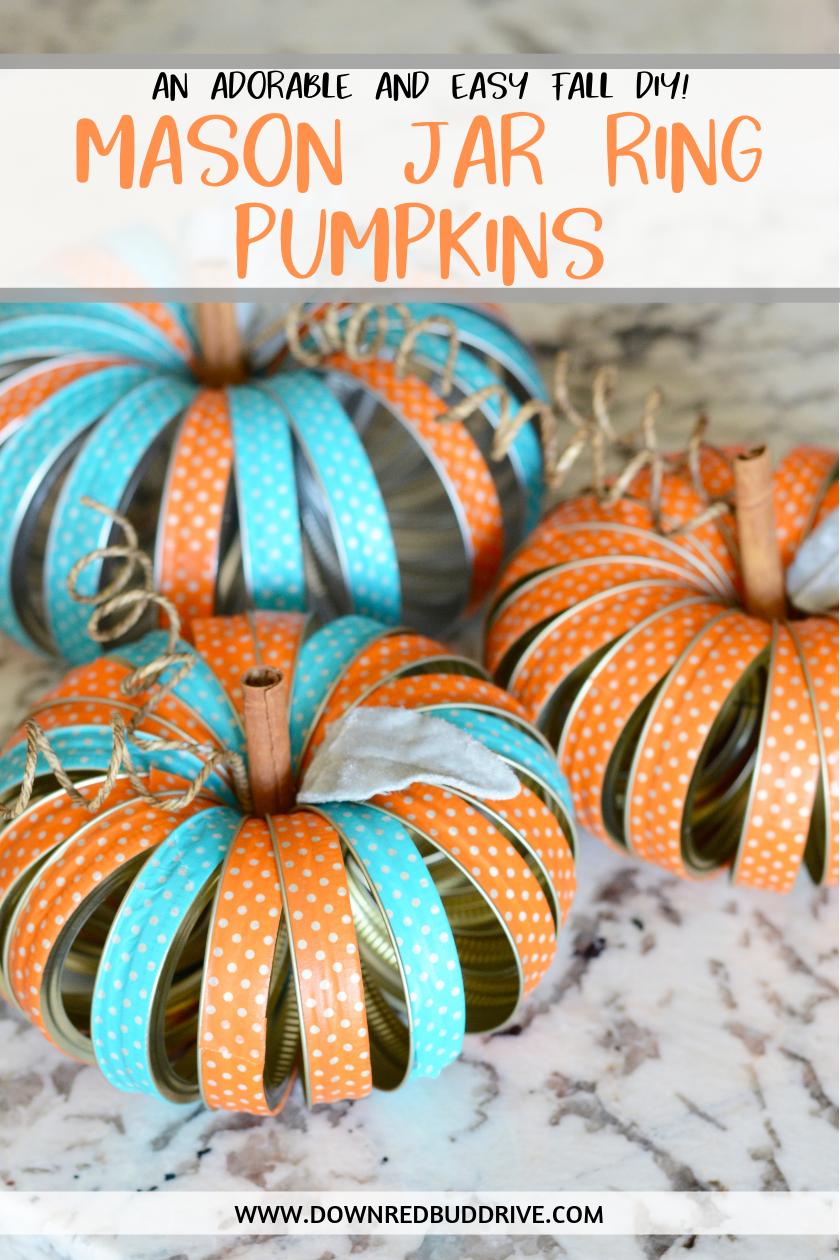 11++ Mason jar lid pumpkin craft info