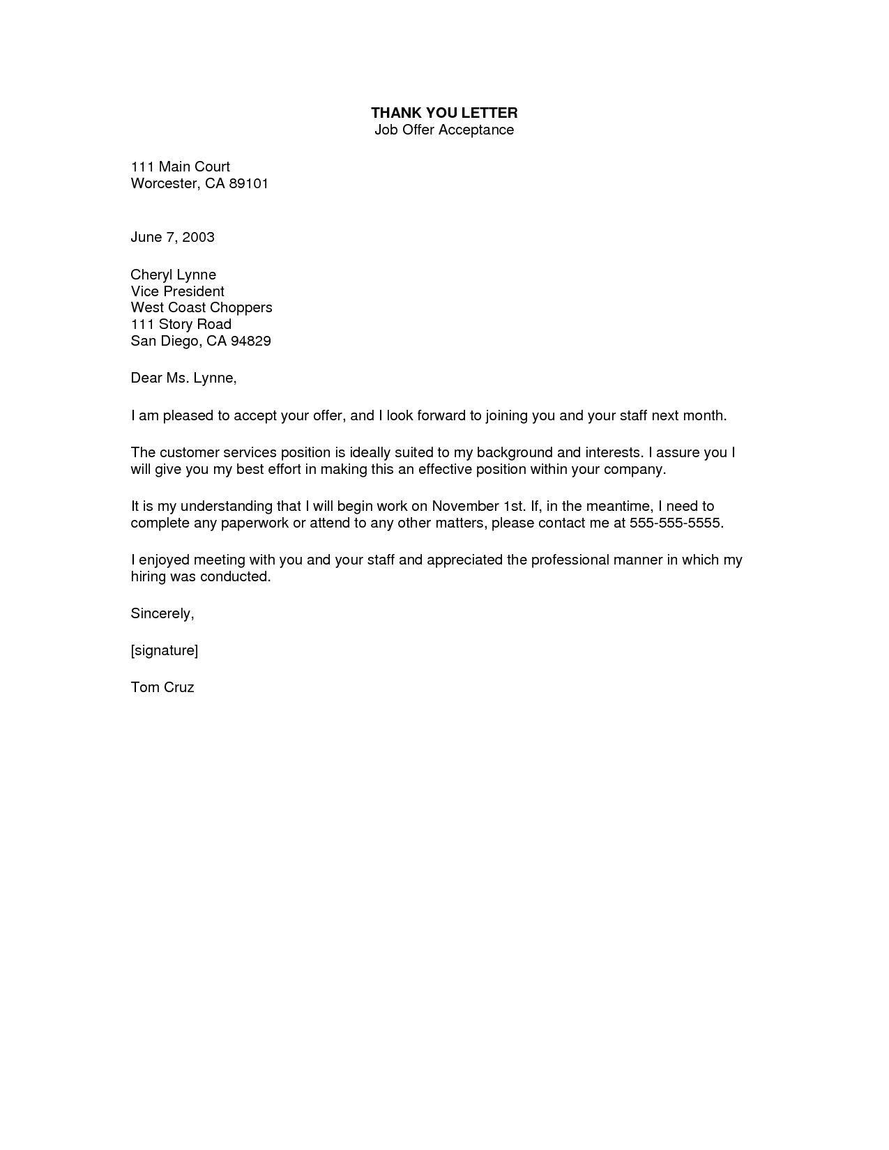 Internship Acceptance Thank You Letter Elegant 10 How to