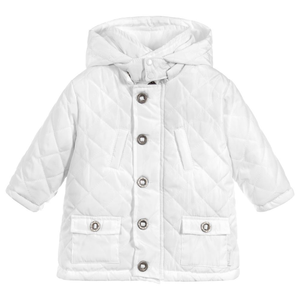 43b20c3e95a6 Tutto Piccolo Unisex White Quilted Coat. Shop from an exclusive ...