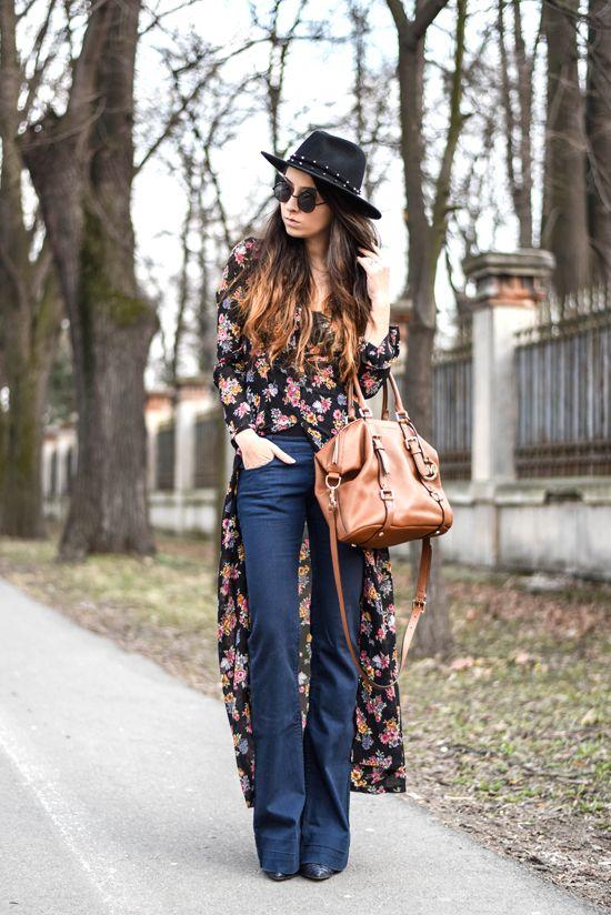 boho chic outfit streetstyle mode styles mode femme mode et femme. Black Bedroom Furniture Sets. Home Design Ideas