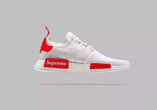 48073117c Adidas Originals NMD Supreme White Red - NMD Runner
