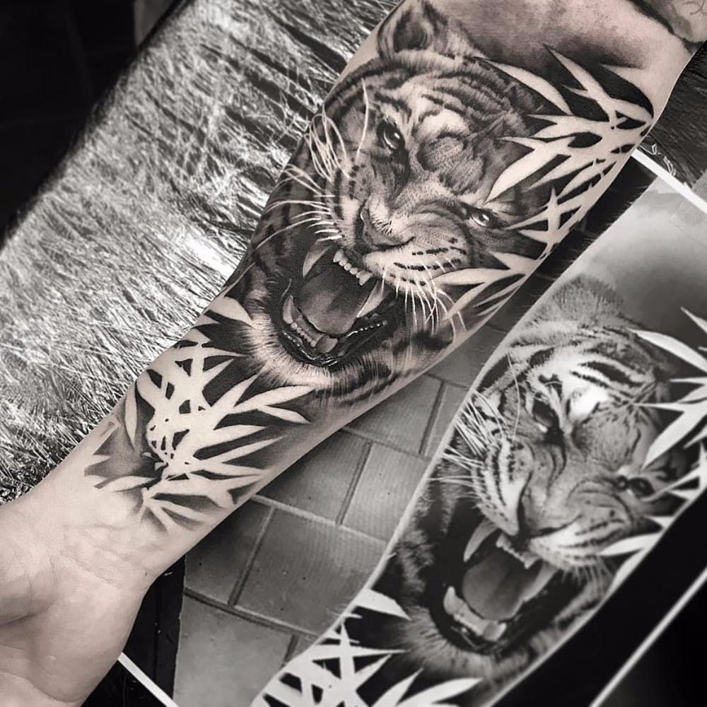 Animal Lovers For Tattoo Of The Day Nature Tattoo Sleeve Jungle Tattoo Tiger Tattoo Sleeve