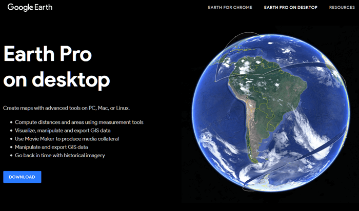 Google Earth Pro free download for Windows 10 64 bit or 32 bit