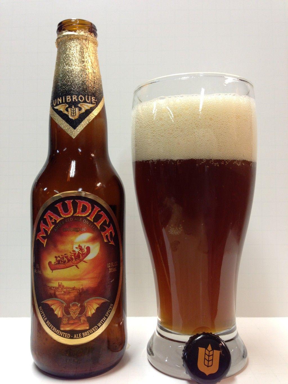Unibroue Maudite Beer bar, Wine and beer, Beer bottle