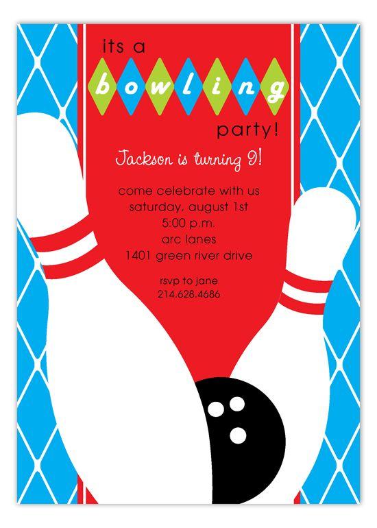 Blue Diamond Bowling Party Bowling Party Invitations Bowling Invitations Bowling Party