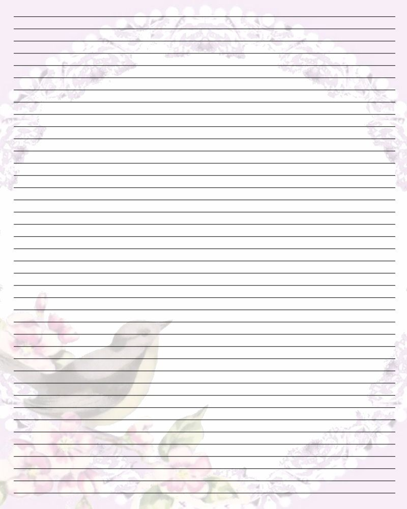 image relating to Free Printable Lined Stationery referred to as no cost printable protected stationary Printable Producing Paper
